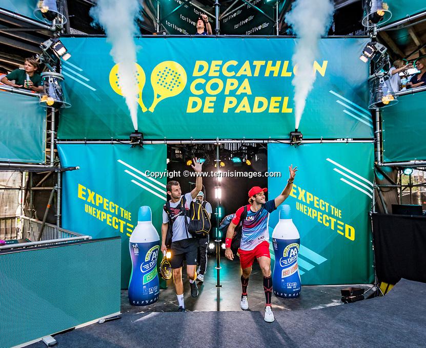 Utrecht, The Netherlands,  September 5, 2021,  Jaarbeurs, Decathlon Copa de Padel,  Bram Meijer (NED)  and Uriel Maarsen (NED)<br /> Photo: Tennisimages/Henk Koster
