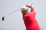 John Daly tees off during the World Celebrity Pro-Am 2016 Mission Hills China Golf Tournament on 22 October 2016, in Haikou, China. Photo by Victor Fraile / Power Sport Images