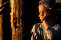 Reflective young girl.