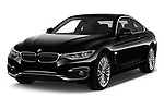 2018 BMW 4 Series Luxury 4 Door Coupe angular front stock photos of front three quarter view