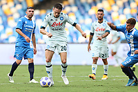 Piotr Zielinski of SSC Napoli scores a goal<br /> during the friendly football match between SSC Napoli and Pescara Calcio 1936 at stadio San Paolo in Napoli, Italy, September 11, 2020. <br /> Photo Cesare Purini / Insidefoto