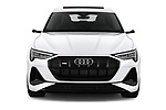 Car photography straight front view of a 2020 Audi e-tron-Sportback S-Line 5 Door SUV Front View