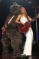 101106_MSFL_LM_SMG<br /> <br /> WEST PALM, FL - OCTOBER 11TH, 2006: John Mayer Joins Sheryl Crow on stage during her set dressed in a bear costume  performing at the Sound Advice Ampitheater. On October 11th, 2006 in West Palm, Florida.  (Photo by Storms Media Group) <br /> <br /> people:  John Mayer;  Sheryl Crow<br /> <br /> Must call if interested <br /> Michael Storms<br /> Storms Media Group Inc.<br /> 305-632-3400 - Cell<br /> MikeStorm@aol.com