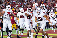 LOS ANGELES, CA - SEPTEMBER 11: Brycen Tremayne during a game between University of Southern California and Stanford Football at Los Angeles Memorial Coliseum on September 11, 2021 in Los Angeles, California.