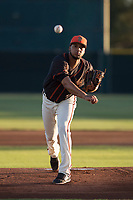 AZL Giants Black starting pitcher Luis Moreno (28) delivers a pitch during an Arizona League game against the AZL Athletics at the San Francisco Giants Training Complex on June 19, 2018 in Scottsdale, Arizona. AZL Athletics defeated AZL Giants Black 8-3. (Zachary Lucy/Four Seam Images)