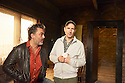 Ian Rickson, theatre director with writer Jez Butterworth on the set of The River  which opens at The Jerwood Theatre Upstairs at The Royal Court Theatre on 26/10/12. CREDIT Geraint Lewis