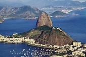 Rio de Janeiro, Brazil. The Sugarloaf and sunny Guanabara bay.