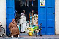 Essaouira, Morocco.  Avenue de l'Istiqlal Store Front.