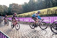 Oliver Naesen (BEL/AG2R-La Mondiale) up the Kemmelberg<br /> <br /> 82nd Gent-Wevelgem in Flanders Fields 2020 (1.UWT)<br /> 1 day race from Ieper to Wevelgem (232km)<br /> <br /> ©kramon
