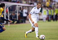 Karim Benzema. Real Madrid defeated Club America 3-2 at Candlestick Park in San Francisco, California on August 4th, 2010.