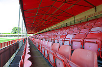 A general view of the stadium before the Sky Bet League 2 match between Crawley Town and Wycombe Wanderers at Broadfield Stadium, Crawley, England on 6 August 2016. Photo by Alan  Stanford / PRiME Media Images.