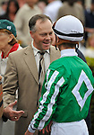 30 January 2009: Trainer Ian Wilkes and jockey Julien Leparoux  after Capt. Candyman Can wins the 53rd running of the Grade 2 Hutcheson Stakes for three-year-olds at Gulfstream Park in Hallandale, Florida.