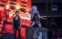 Cyndi Lauper performs at the Festival d'ete de Quebec (Quebec Summer Festival) on July 13, 2018. THE CANADIAN PRESS IMAGES/Francis Vachon