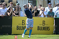 Greig Ludlaw of Team Scotland tee's off during the Bulmers 2018 Celebrity Cup at the Celtic Manor Resort. Newport, Gwent,  Wales, on Saturday 30th June 2018<br /> <br /> <br /> Jeff Thomas Photography -  www.jaypics.photoshelter.com - <br /> e-mail swansea1001@hotmail.co.uk -<br /> Mob: 07837 386244 -