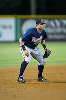 Danville Braves third baseman Austin Riley (13) on defense against the Burlington Royals at Burlington Athletic Park on August 13, 2015 in Burlington, North Carolina.  The Braves defeated the Royals 6-3. (Brian Westerholt/Four Seam Images)