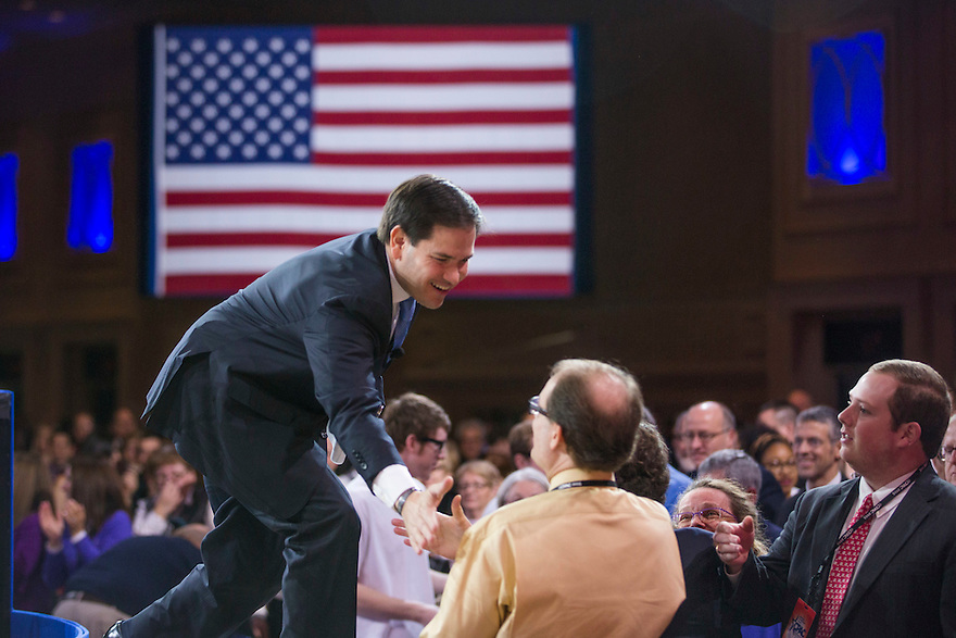 Florida Senator Marco Rubio speaks at the 2015 Conservative Political Action Conference (CPAC) outside Washington, DC