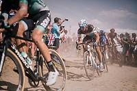 Oliver Naesen (BEL/AG2R-La Mondiale) on pavé sector #2<br /> <br /> Stage 9: Arras Citadelle > Roubaix (154km)<br /> <br /> 105th Tour de France 2018<br /> ©kramon
