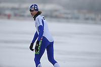 MARATHONSCHAATSEN: ELBURG: Veluwemeer,  25-01-2013, Schaatsseizoen 2012-2013, KPN NK Marathon Natuurijs, Sjoerd Huisman (A24), ©foto Martin de Jong