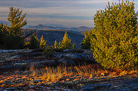 Last light from the summit of Rock Pond Mountain in the Adirondack Mountains in New York State