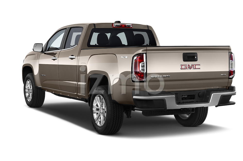 Car pictures of rear three quarter view of a 2015 GMC Canyon Slt 4 Door Pickup 2WD Angular Rear