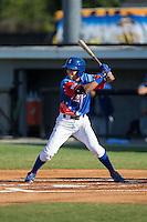 Nicky Lopez (4) of the Burlington Royals at bat against the Bluefield Blue Jays at Burlington Athletic Stadium on June 26, 2016 in Burlington, North Carolina.  The Blue Jays defeated the Royals 4-3.  (Brian Westerholt/Four Seam Images)