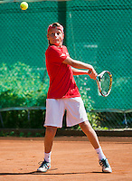 August 4, 2014, Netherlands, Dordrecht, TC Dash 35, Tennis, National Junior Championships, NJK,  Pim van der Veer (NED)<br /> Photo: Tennisimages/Henk Koster