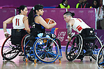 Tara Llanes and Cindy Ouellet, Lima 2019 - Wheelchair Basketball // Basketball en fauteuil roulant.<br />