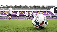 Orlando, Florida - Friday January 12, 2018: 2017 MLS Nativo match ball. The 2018 adidas MLS Player Combine Skills Testing was held Orlando City Stadium.
