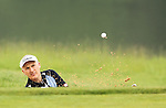 Phillip Price splashes out of the sand on the 12th during the 2nd round of the ISPS Handa Wales Open 2012...01.06.12.©Steve Pope