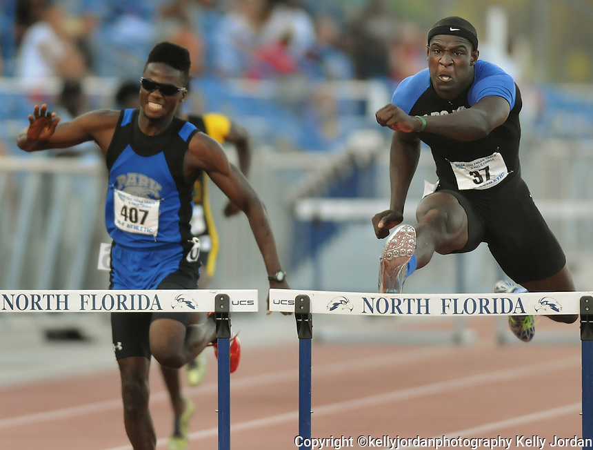 Kelly.Jordan@jacksonville.com--050512--during the FHSAA Class 4A Track and Field Finals at the University of North Florida in Jacksonville, Florida Saturday May 5, 2012.(The Florida Times-Union, Kelly Jordan)