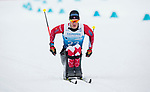 Prince George, B.-C., 17 February/2019 -  Derek Zaplotinsky competes in the men's 7.5km Cross Country Sitting event at the 2019 World Para Nordic skiing Championships in Prince George, B.C. Photo Bob Frid/Canadian Paralympic Committee.