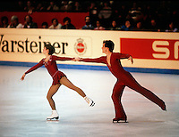 Cynthia Coull and Mark Rawsom of Canada compete at the 1984 World Figure Skating Championships in Ottawa, Canada. Photo copyright Scott Grant.