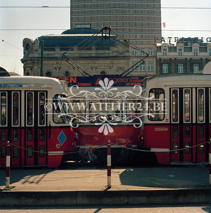 April 1990. Franklin Rooseveltplaats in Antwerpen.