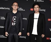 LOS ANGELES- DECEMBER 12: (L-R) Kazunori Kadoi and Yoshiaki Hirabayashi attend the Game Awards 2019 at the Microsoft Theater on December 12, 2019 in Los Angeles, California. (Photo by Scott Kirkland/PictureGroup)