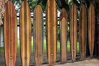 Surfboard gate. Oahu, Hawaii