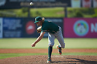 Greensboro Grasshoppers relief pitcher Braeden Ogle (14) delivers a pitch to the plate against the Piedmont Boll Weevils at Kannapolis Intimidators Stadium on June 16, 2019 in Kannapolis, North Carolina. The Grasshoppers defeated the Boll Weevils 5-2. (Brian Westerholt/Four Seam Images)