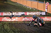 Nicolas Cleppe's (BEL/Telenet Bamoise Lions) bunnyhop gone sour<br /> <br /> Superprestige Boom (BEL) 2020<br /> Men's Race<br /> <br /> ©kramon