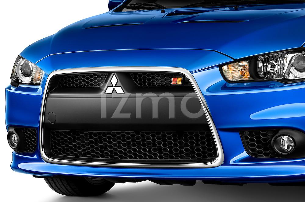Front Grille Closeup of a 2010 Mitsubishi Lancer Sportback