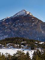 Aussicht bei der Untermarkter Alm, Ski-Gebiet Hochimst bei Imst, Tirol, Österreich, Europa<br /> panorama at alp  Untermarkter Alm, skiing area Hochimst, Imst, Tyrol, Austria, Europe