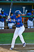 Gersel Pitre (13) of the Ogden Raptors at bat against the Missoula Osprey in Pioneer League action at Lindquist Field on July 14, 2016 in Ogden, Utah. Ogden defeated Missoula 10-4. (Stephen Smith/Four Seam Images)