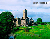 Tom Mackie, LANDSCAPES, LANDSCHAFTEN, PAISAJES, FOTO, photos,+6x7, church, County Clare, EU, Europa, horizontal, horizontals, Ireland, medium format, Quinn Abbey, religion, religous, tour+ist attraction,6x7, church, County Clare, EU, Europa, horizontal, horizontals, Ireland, medium format, Quinn Abbey, religion,+religous, tourist attraction++,GBTM990255-2,#L#, EVERYDAY ,Ireland