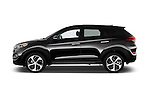 Car Driver side profile view of a 2018 Hyundai Tucson Limited 5 Door Suv Side View