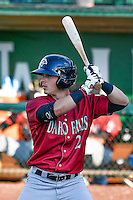 Tanner Stanley (2) of the Idaho Falls Chukars at bat against the Ogden Raptors in Pioneer League action at Lindquist Field on June 28, 2016 in Ogden, Utah. The Raptors defeated the Chukars 12-11. (Stephen Smith/Four Seam Images)