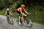 Ilnur Zakarin (RUS) CCC Team and Nans Peters (FRA) AG2R La Mondiale climb Port de Balès during Stage 8 of Tour de France 2020, running 141km from Cazeres-sur-Garonne to Loudenvielle, France. 5th September 2020. <br /> Picture: ASO/Pauline Ballet | Cyclefile<br /> All photos usage must carry mandatory copyright credit (© Cyclefile | ASO/Pauline Ballet)