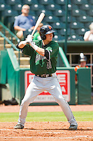 Trevor Brown (41) of the Augusta GreenJackets at bat against the Greensboro Grasshoppers at NewBridge Bank Park on August 11, 2013 in Greensboro, North Carolina.  The GreenJackets defeated the Grasshoppers 6-5 in game one of a double-header.  (Brian Westerholt/Four Seam Images)