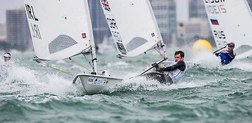 Finn Lynch in control in the Laser
