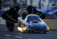 Jul, 9, 2011; Joliet, IL, USA: NHRA funny car driver Justin Schriefer during qualifying for the Route 66 Nationals at Route 66 Raceway. Mandatory Credit: Mark J. Rebilas-