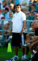 Saint Louis Athletica head coach Jorge Barcellos during a WPS match at Anheuser-Busch Soccer Park, in St. Louis, MO, July 26, 2009. The match ended in a 1-1 tie.