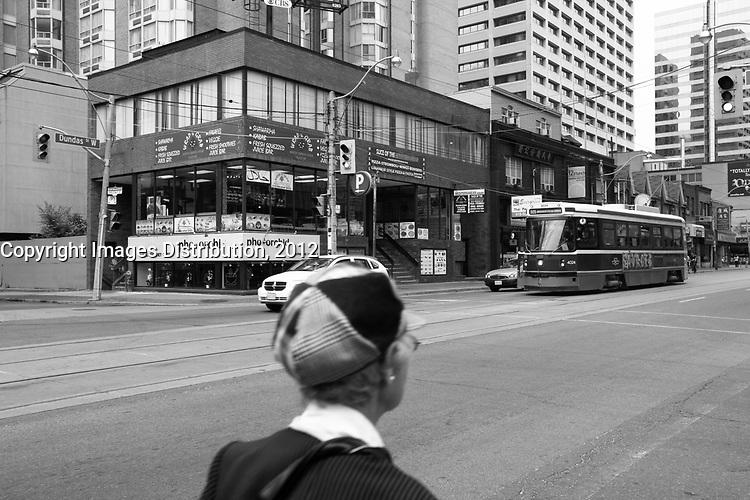 Toronto (ON) CANADA - July 2012 -  Toronto  Transit Commision : <br /> tramway on dundas street