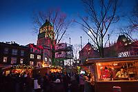 Amérique/Amérique du Nord/Canada/Québec/ Québec: Marché de Noël dans Le Vieux-Québec classé Patrimoine Mondial de l'UNESCO,